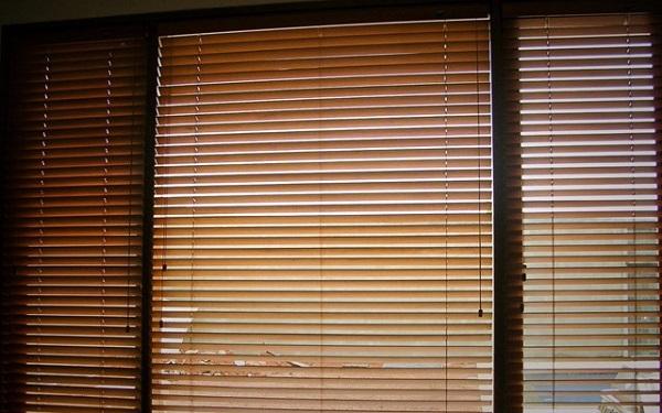 wooden blind